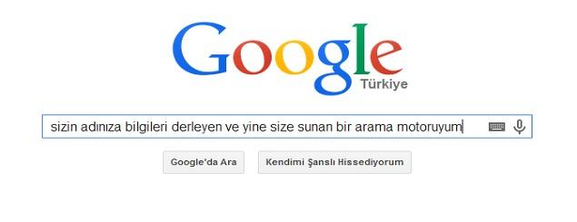 google nedir sorusuna google cevabı