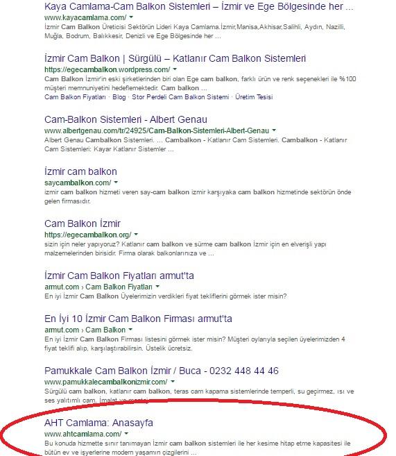 örnek google araması